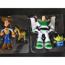 Grande Buzz E Woody 25 Cm Som Fala Luz Led Toy Story