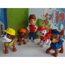 Kit Patrulha Canina Com 5 Personagens Do Desenho Animado