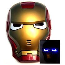 Nova Máscara Homem De Ferro Com Led/ Iron Man/ Cosplay/