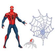 Spider Man Ultimate Homem Aranha C/ Teia Hasbro 11 Cm Marvel