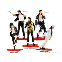 5 Bonecos Michael Jackson - Moon Walk - 10 Cm - Astro Pop
