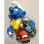 ### Smurfs - Jogador De Golf - Schleich - Miniatura Nova ###