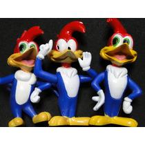 Trio De Pica Pau Woody Woodpecker Bonecos