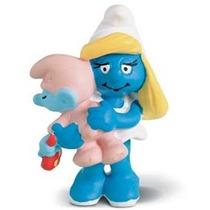 Smurfette With Baby - Miniatura Imp. Schleich Smurfs - Nova!