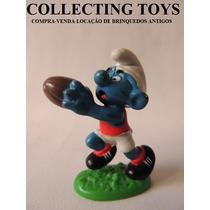 Boneco Do Smurfs - Schleich - Antigo - Futebol (sm35)