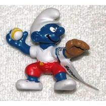 Smurf Pitcher - Miniatura Imp. Schleich - Smurfs - Nova!