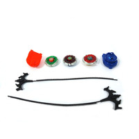 Brinquedo Kit Com 3 Beyblade Metal Fusion + Lançadores 12139