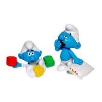 Smurfs - Bonecos Com Acessórios Smurf Soneca E Bebê