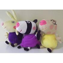 3 Novos Amigos Peppa Pig ( Zoe Richard Pedro) Pronta Entrega