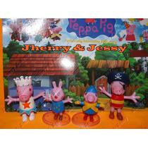 Famíla Peppa Pig Kit Com 4 Personagens - Pronta Entrega!