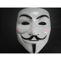 Máscara V De Vingança Anonymous Vendetta Guy Fawkes