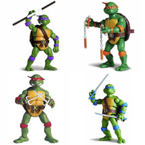 Kit Com 4 Tartarugas Ninja Classic Collection Playmates