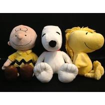 Snoopy Charlie Brow E Woodstock Pelucia Originais Snoop Rara