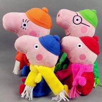 Família Peppa Pig Pack Com A Peppa,jorge E Os Pais *inverno*