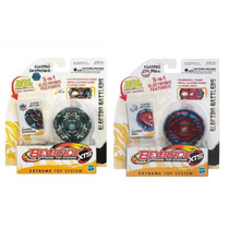 Kit Com 2 Beyblade Extreme Top System Electro Battlers