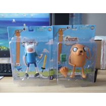 Kit Com 2 Bonecos Jake E Finn Hora Da Aventura! Cartoon Pvc