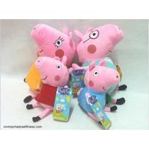 Família Peppa Pig Em Pelúcia Pronta Entrega!!!