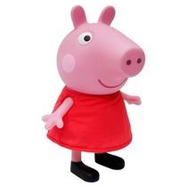 Boneca Peppa Pig 32 Cm Vinil Multibrink - Original