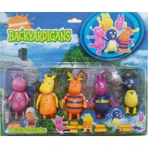 Kit Com 5 Bonecos Do Desenho Backyardigans Com Iluminação