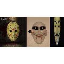 Kit Máscaras Jason Sexta13/ Anonymous / Jig Saw Jgos Mortais