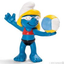 Schleich 20738 Smurfs Olimpiadas - Volei De Praia