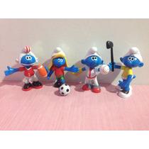 Miniaturas Bonecos Smurfs Esportes Coleção Azul Atletas