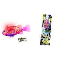 Robo Fish Rosa Com Amarelo Com Led Nova Serie - Dtc