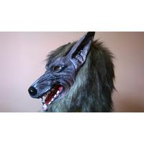Máscara Carnaval Halloween Latex Lobo Mau Pronta Entrega