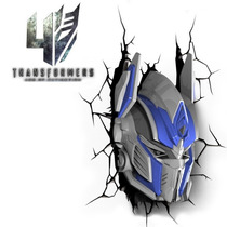 Luminária 3d Optimus Prime Transformers Autobots Vingadores