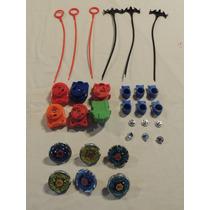 Kit 6 Beyblade + Lançador + Puxador + Pontas + Chave Cod 04