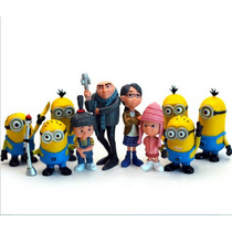 Action Figures Meu Malvado Favorito Minions Kit 10 Bonecos