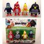 Coleção 4 Miniaturas Bonecos Angry Birds Filme Com Luz Red