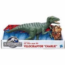 Boneco Novo Jurassic World Dinossauro Velociraptor Charlie