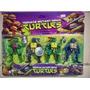 Kit De 4 Bonecos Tartarugas Ninjas Com Acessórios