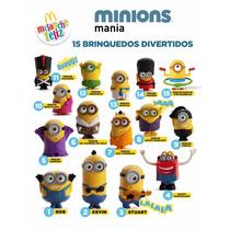 Coleção Completa Minions 2015 - Mc Donalds Todos Funcionando