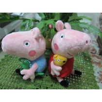 Casal Peppa Pig E George Pig A P. Entrega +dvd Infantil