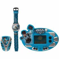 Relógio + Rádio Fm C/ Fone De Ouvido+ Minigame Max Steel