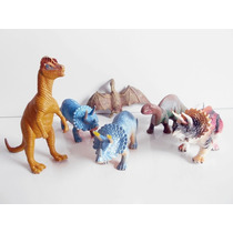 Lote 6 Bonecos Dinossauros Variados - Jurassic Park