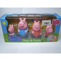 Família Peppa Pig - 4 Bonecos - Novo -pronta Entrega - Peppa