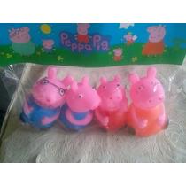 Familia Peppa Pig 4 Bonecos