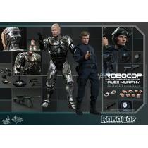 Hot Toys Set Robocop & Alex Murphy Peter Weler Battle Damage