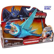 Tambor Trovão Azul Thunderdrum 7cm Como Treinar O Seu Dragão