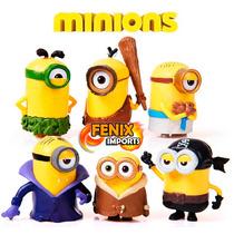 Lote Minions 6 Minions Importado Estilo Mc Donalds Filme