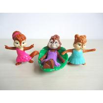 Coleção Burger King Alvin E Os Esquilos Kit 3 Peças ! !