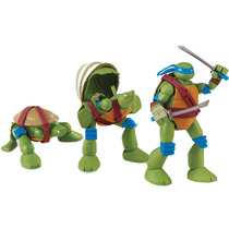 Boneco Tartarugas Ninjas Pet To Turtle Leonardo Multikids