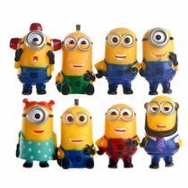 8 Miniaturas Minions Meu Malvado Favorito 5-6 Cm Cada Um
