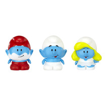 Os Smurfs - Micro Vila - Papai Smurf + Smurf + Smurfette