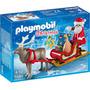 Novo Brinquedo Playmobil Christmas Trenó Do Papai Noel 5590
