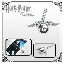 Colar Pingente Harry Potter Hermione Pomo De Ouro Cor Prata