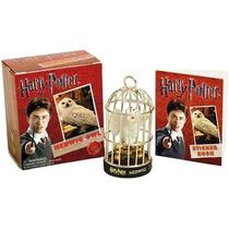Kit Gaiola Edwiges E Livro De Adesivos Harry Potter - Novo